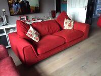 Red Fabric Sofa £70