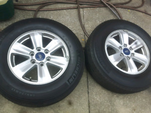 FORD F150 TIRES AND RIMS.   SIZE  245/70R17 .. Like Brand New..