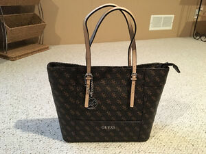 Guess Delaney Logo Large Classic tote bag brown