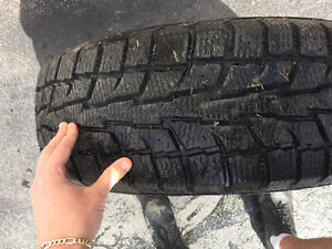 Barely used 18 inch winter tires