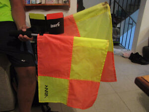 Side line flags and yellow/red card