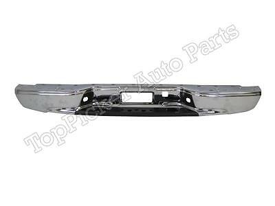 Rear Step Bumper Chrome Face Bar Reinforce Bar 1999-2007 Silverado Fleetside Bed