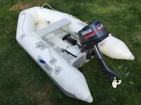 """7'7"""" Dingy Tender with 2 stroke Yamaha 4hp"""