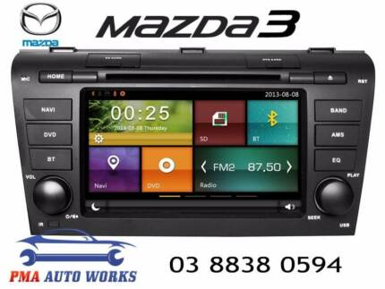 MAZDA 3 GPS DVD BLUETOOTH REVERSE CAMERA NAVI HEAD UNIT RADIO