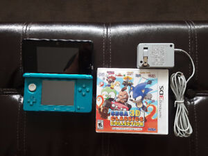 Blue Nintendo 3DS System with 1 Game