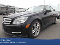 2011 MERCEDES C300 4MATIC AWD, NAV, TOIT, CUIR, BLUETOOTH