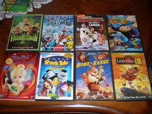 8 KIDS DVD COLLECTION.  ALL 8 FOR $9  CALL 519 729-5862