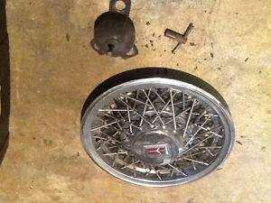 Oldsmobile chrome spoke hubcaps