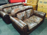 Full leather 3 and 2 sofa set