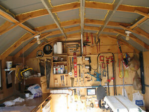 For sale, a free standing 14'x10'x8' woodworking shop. Kawartha Lakes Peterborough Area image 2