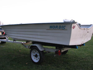 1997 Nordic 14ft boat Northtrail trailer 9.9 Yamaha possibly Kingston Kingston Area image 2