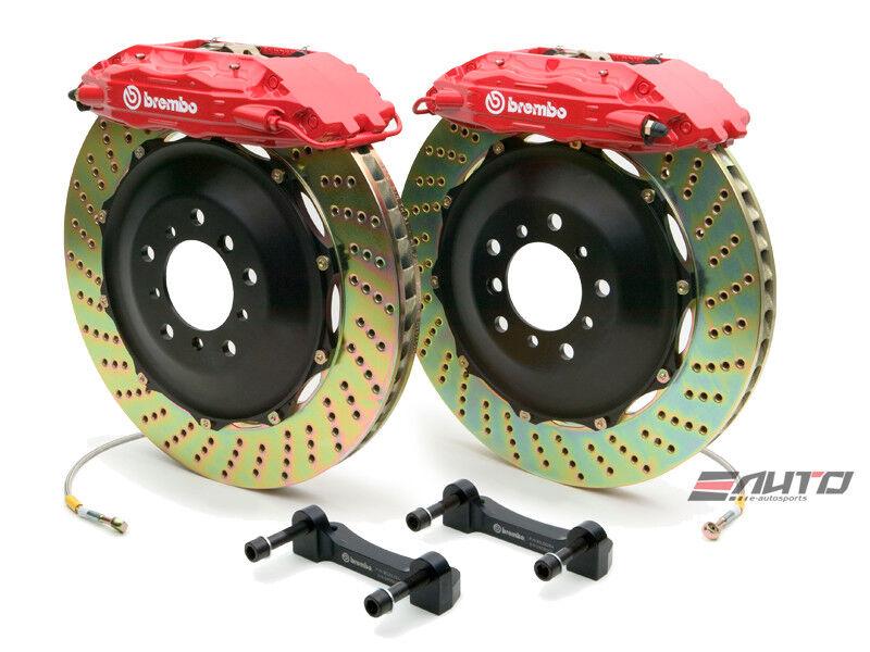 Brembo Rear Gt Bbk Brake 4pot Caliper Red 380x32 Drill Disc Hummer H2 08-09