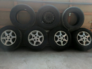 195/70R-14 Seven Tires and Rims Deal