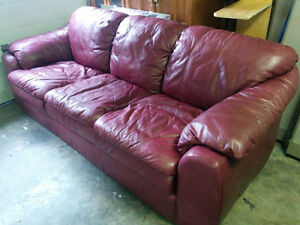 100% Top Grain Leather Palliser Couch - Delivery Available