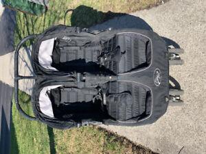 City mini double stroller (black)