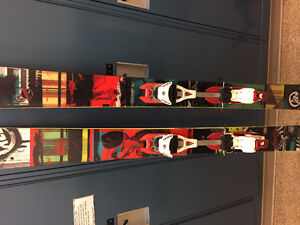 K2 Shreditor 112 skis with Fritschii diamir touring bindings