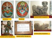 Lot of Mexican / Mayan / Aztec Art, Sculpture, Masks