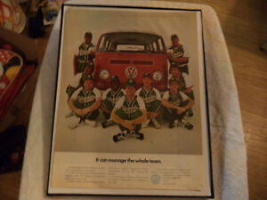old vw bus classic car framed ads Windsor Region Ontario image 1