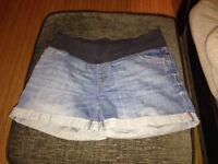 Next maternity denim shorts