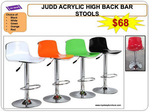 BRAND NEW- BAR STOOLS- acrylic, plastic, leather, Many colors City of Toronto Toronto (GTA) image 4