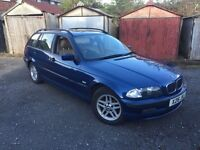 2000(X) BMW 320 TURBO DIESEL SE TOURING FULL SERVICE HISTORY 2 FORMER LADY OWNERS