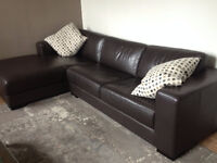**Modern Leather Sectional - 2 Piece**