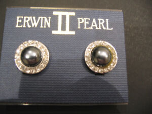 ERWIN PEARL CRYSTAL AND FAUX PEARL CLIP EARRINGS