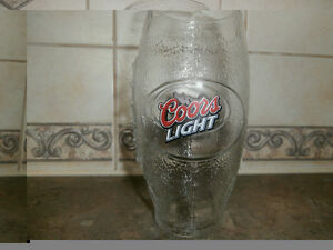 5 COORS LIGHT FOOTBALL DRINKING GLASSES