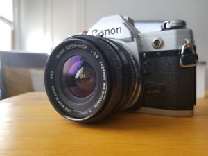 Canon AE1 +  SIGMA 24mm + CANON 50mm + MAKINON 200mm(negociable)
