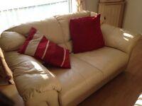 Wrexham 2 matching cream dfs sofas
