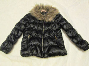 Juicy Couture Girls Size 4T Puff Jacket Faux Fur Collar