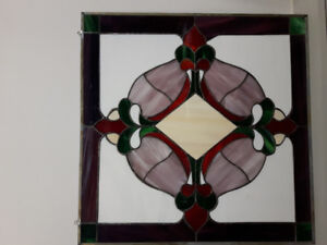 2'x2'stained glass panels.
