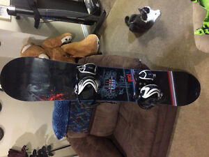 Ltd quest snowboard and bindings