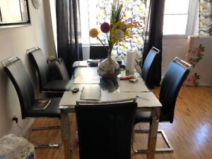 Dining table and sofa for sale