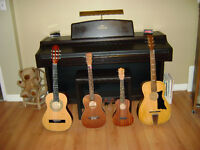 Music Lessons in your Home – Piano, Guitar, Ukelele and Accordio