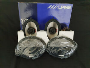 "MINT Alpine SPR-574A 5""x7"" 2-way Car Speakers  MINT Condition"