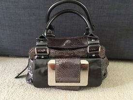 Next metallic grey handbag