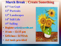 """Create Something"" March Break 2019"