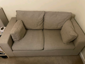 Double fabric sofa bed
