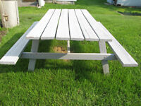 GOOD SOLID PICNIC TABLE $30.00