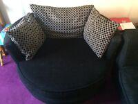 Cuddle/swivel chair