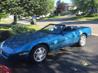 1989 BRIGHT BLUE CORVETTE CONVERTIBLE FOR SALE