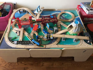 Train table and train set for sale