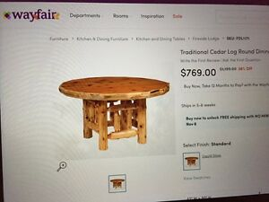 Natural wood rustic dinning table 6 chair  Stratford Kitchener Area image 9