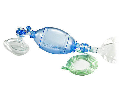 Adult Manual Resuscitator 1500ml Pvc Ambu Bagoxygen Tube Cpr First Aid Kit