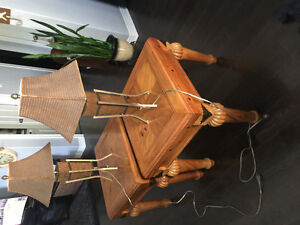 2 lamps and  2 end tables in great shape