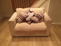 2 x Two Seater Fabric Sofas 140 ONO