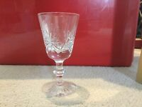 """6 Star of Edinburgh Crystal Glasses 5"""""""