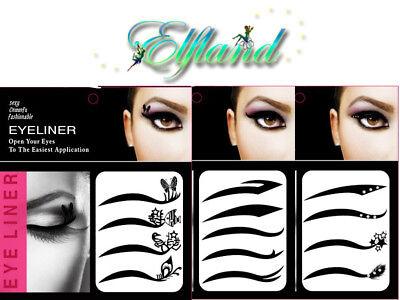 Augenlid Eyeliner * Einmal Augen Tattoo Transfer Sticker * Make up Kosmetik (Augen Make-up Tattoo)