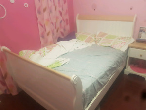 White Double Size Bed Set For Sale